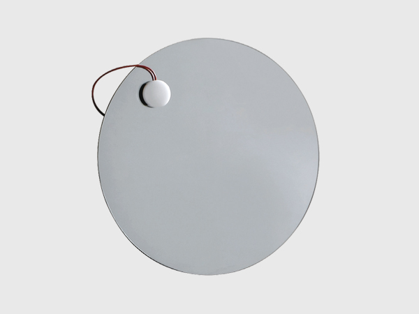 round mirror with magnetic lamp