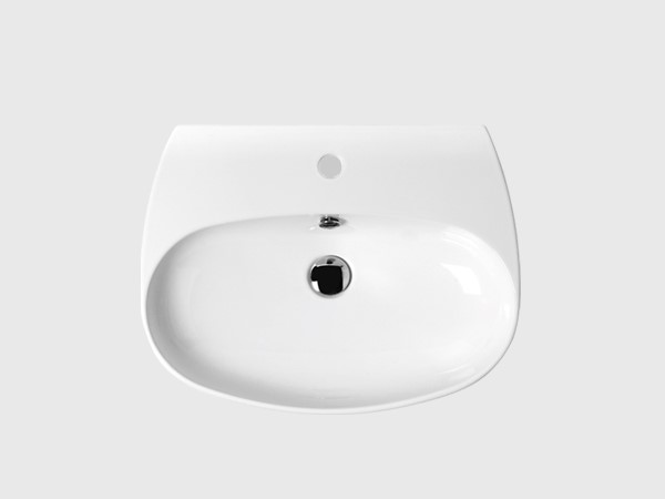 "24"" wash basin with single faucet hole"
