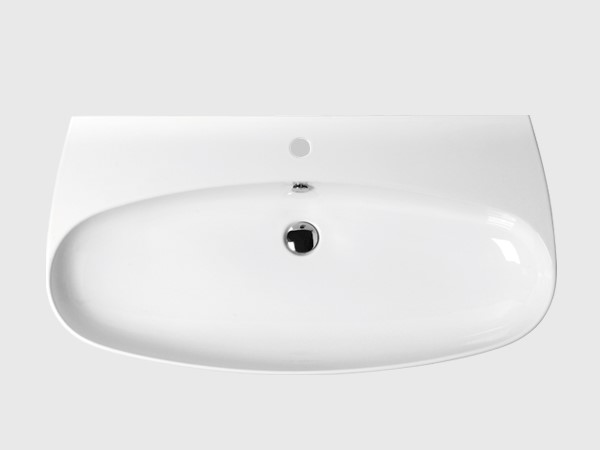 "39"" wash basin with single faucet hole"