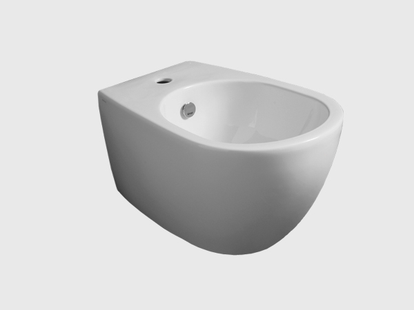wall hung bidet with single faucet hole