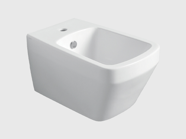 BADEN BADEN Wall Hung Bidet with Single Faucet Hole