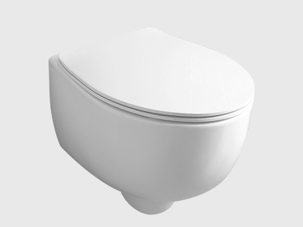 BORMIO Rimless Wall Hung Toilet with Seat