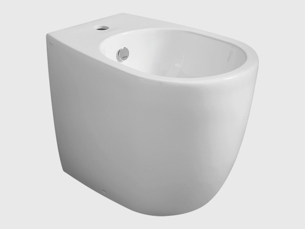 VIGNONI Floormount Bidet with Single Faucet Hole